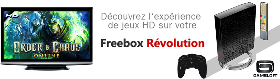 Découvrez l´expérience de jeux HD sur votre. Freebox Révolution
